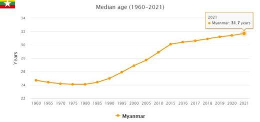 Myanmar Median Age