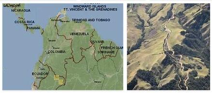 Topography of Colombia